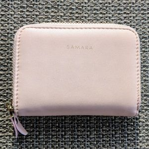 Handbags - SAMARA Lola Vegan Compact Zippy Wallet Blush